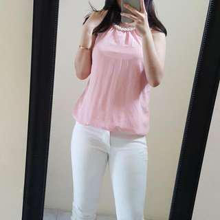 Atasan Pearl Chiffon Pink