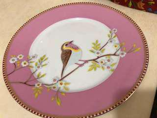 法國🇫🇷Pip Studio 骨瓷Bird plate in pink