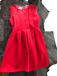 紅色斯文裙
