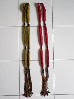 Beaded sash
