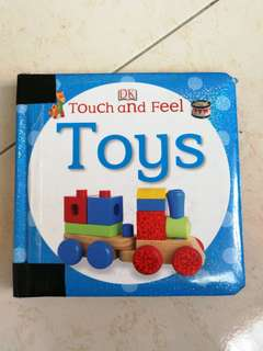 Hardcover DK touch and feel TOYS