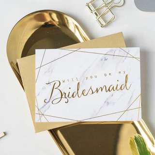 [IN STOCK] Wedding Invitation - bridesmaid cards (min order)