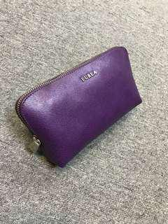 Furla purple leather bag