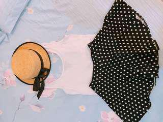 點點傘狀裙