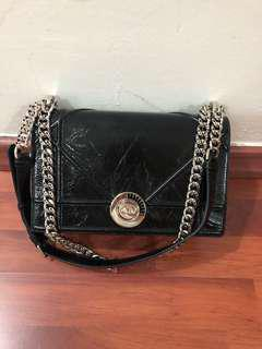 Authentic Dior Crinkled Black Lambskin Diorama