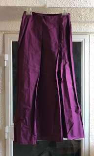 紫紅色半截長裙 *Made in Italy *