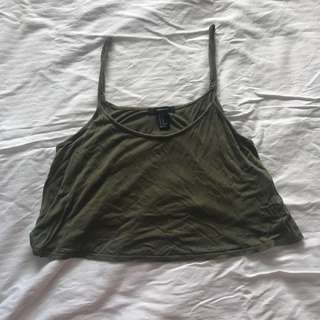 Forever 21 Army Green Hanging Top