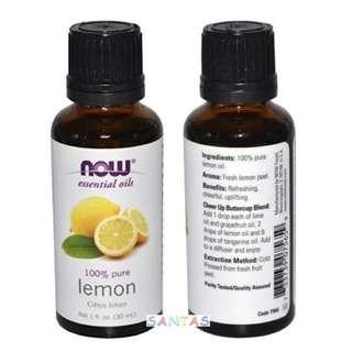 NOW 100% 純淨檸檬香薰精油 30ml NOW 100% Pure Lemon (Citrus Limon) Essential Oils 30ml