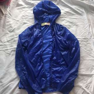 Folded & Hung Wind Breaker
