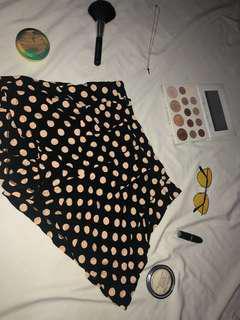 Polka dots high waist shorts
