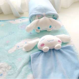 萌萌可愛空調玉桂狗公仔寶寶睡眠靠墊/抱枕小毛毯 - 18080401
