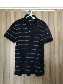 Gap dry fit blue stripe poloshirt medium authentic