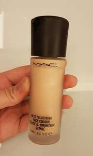 Mac next to nothing face colour tinted fluid illuminator moisturizer lightweight foundation