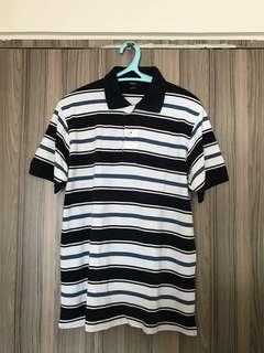 Bossini stripe poloshirt size medium