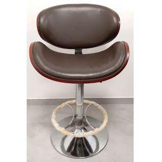 [二手傢俬] 吧台椅 吧椅 酒吧凳 bar台凳 bar凳 椅子 靠背吧凳 高腳凳子 (實木 真皮 不鏽鋼 可調整高度)