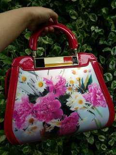 Tas Wanita (Handbag Flower 3D Effect)