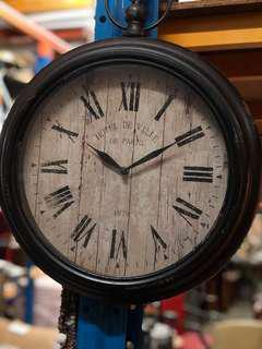 Vintage Metal Wall Clock (Rare Item)