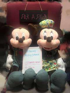 Flowery Mickey & Minnie