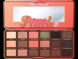 ON SALE! Too Faced Sweet Peach Palette