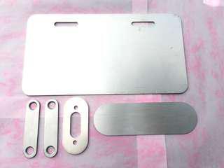 🚚 車牌保護片1.2T+ gogoro2 Logo品牌底板 +Gogoro 2 車廂扣墊片+gogoro2 面板飾蓋
