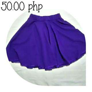 💮 purple patterned skater skirt
