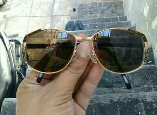 Nina Ricci Oversized Sunglasses France Gold Plated AUTHENTIC Retro
