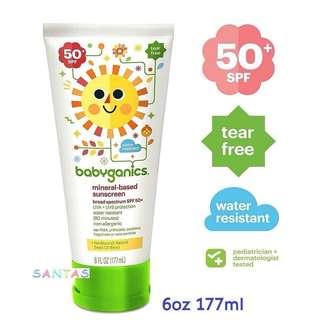 Babyganics 天然礦物防曬 SPF 50+  Babyganics Mineral-Based Baby Sunscreen Lotion SPF 50+