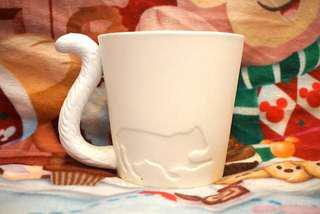 可愛貓貓造型白色茶杯 /  水杯