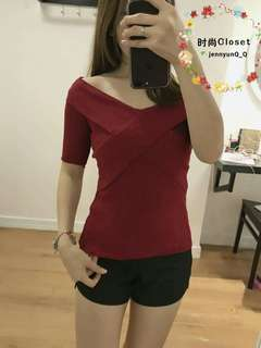 Maroon Top #50under