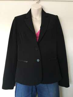 Jacqui E Blazer with pleather detail size 8