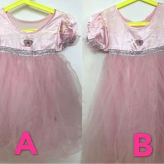 2 Fairy dresses for sisters (A: 2-3 yrs /  B:4-5 yrs)