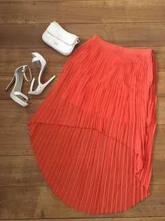 I.T Fashion asymmetrical skirt orange size 14