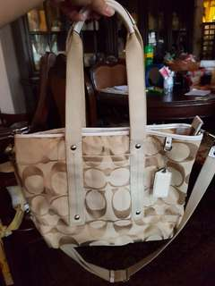 Authentic Coach Kyra Signature Tote with Sling