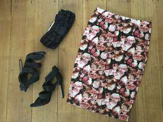 I.T Fashion floral skirt size 10