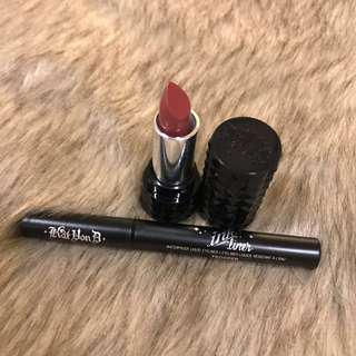 Authentic Kat Von D Ink Liner + Lipstick Mini Set