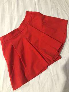 Zara Red Skort