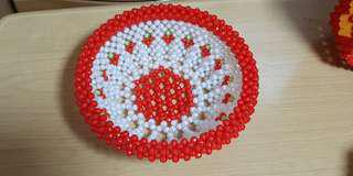 Beaded fruit bowl (2)