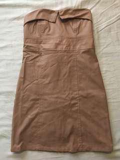Tube Leather Dress