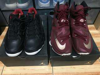 Air Jordan 9 and Nike Lebron 13