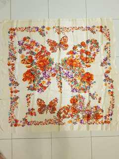 Butterfly motif scarf