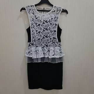 DRESS Black White SECRET LABEL