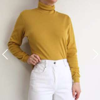 Mustard Yellow Turtleneck