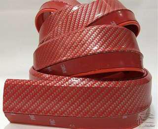 🚚 (01 SET) RED Carbon Fibre Print Samurai Lip