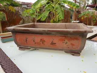 Large terracotta bonsai flower pot