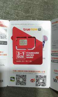 Thailand 8 days Truemove tourist SIM card