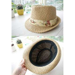 日系草帽 紳士帽 沙灘渡假風