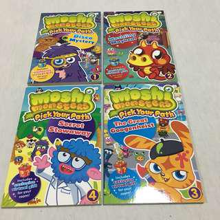 Moshi Monsters. Pick Your Path. 4 Books, Box