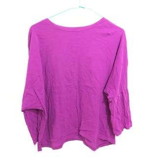 🚚 桃紫色七分袖