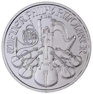 2017 1安士維也納愛樂樂團銀幣 2017 Austria 1 oz. Silver Philharmonic - GEM BU
