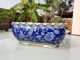 Medium size porcelain bonsai flower pot